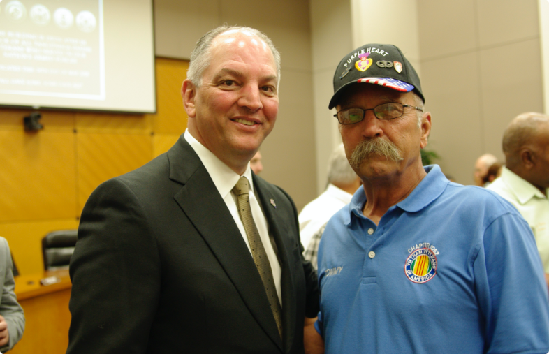 Image of Thomas Joyner with Gov. John Bel Edwards